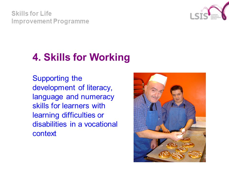 Skills for Life Improvement Programme 4.