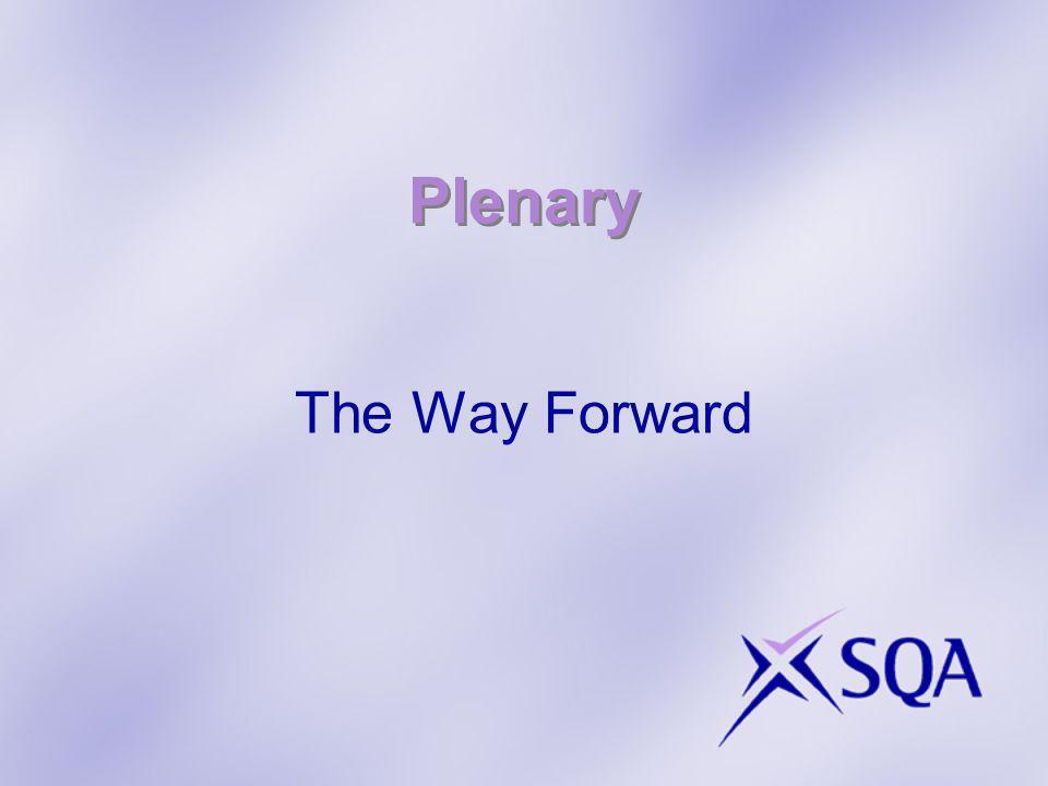 Plenary The Way Forward