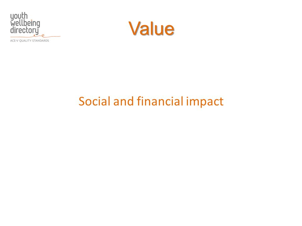 Value Social and financial impact