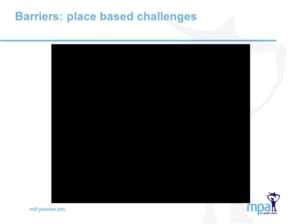 Barriers: place based challenges