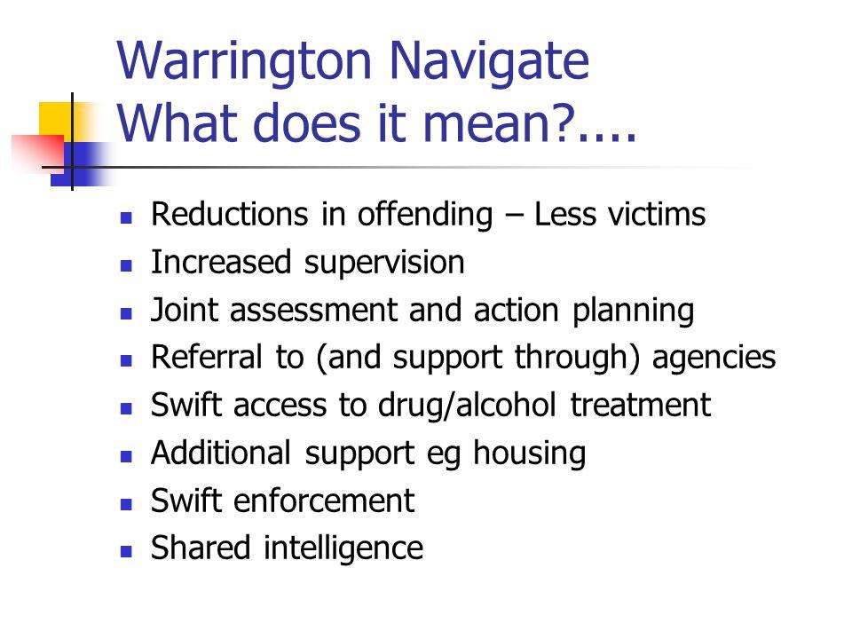Warrington Navigate What does it mean ....