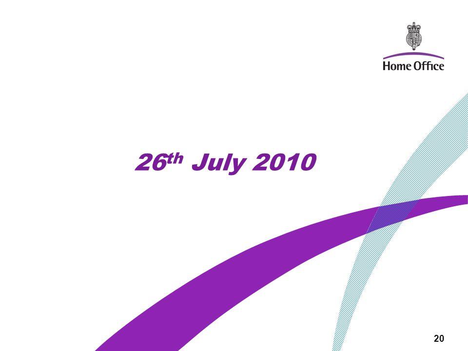26 th July 2010 20