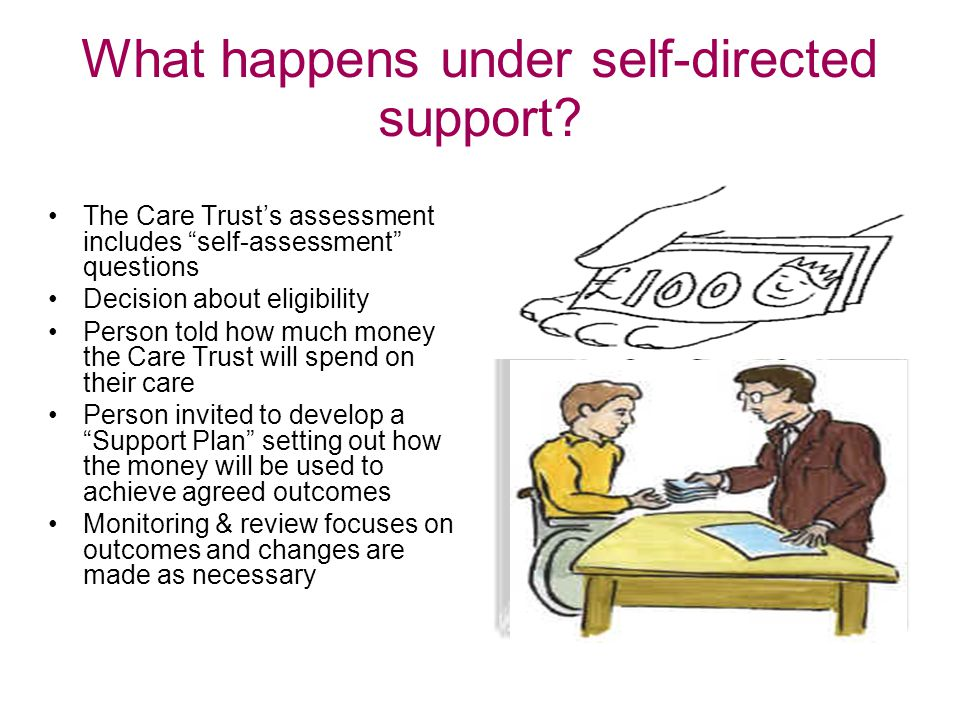 What happens under self-directed support‏.