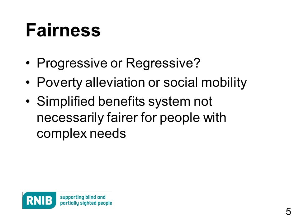 5 Fairness Progressive or Regressive.