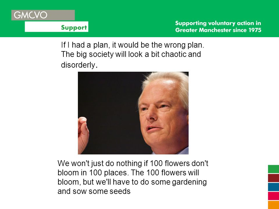 We won't just do nothing if 100 flowers don't bloom in 100 places. The 100 flowers will bloom, but we'll have to do some gardening and sow some seeds