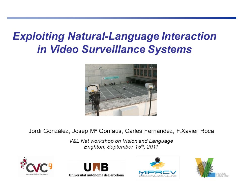 2  UNDERSTAND videos with humans … (or actions in images)  …to EXPLAIN them in their context (or classify, search…) ISE Lab: Research Lab on Image Sequence Evaluation