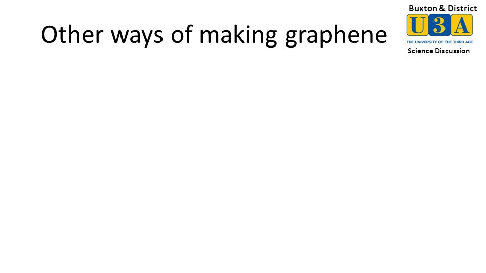Buxton & District Science Discussion Other ways of making graphene