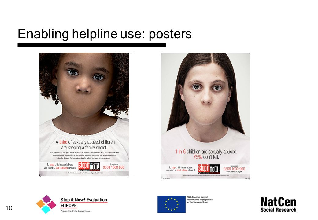 Enabling helpline use: posters 10