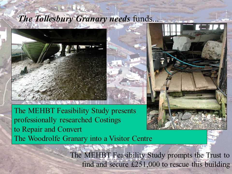 The Tollesbury Granary needs funds...