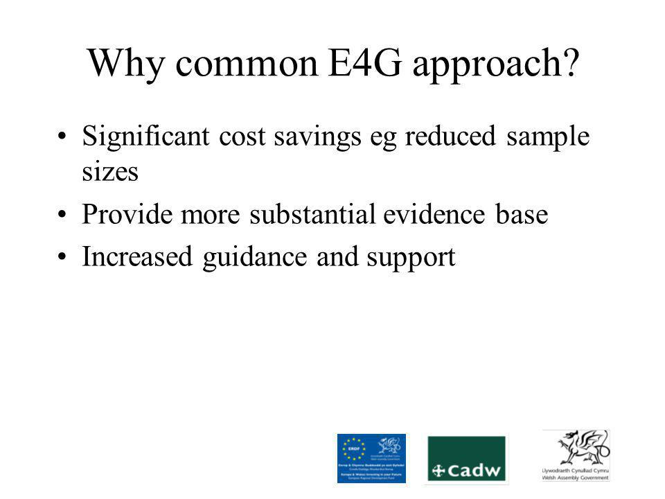 Why common E4G approach.
