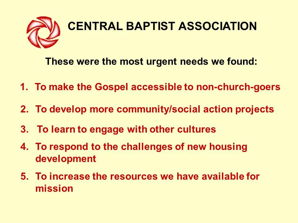 CENTRAL BAPTIST ASSOCIATION Together we can!