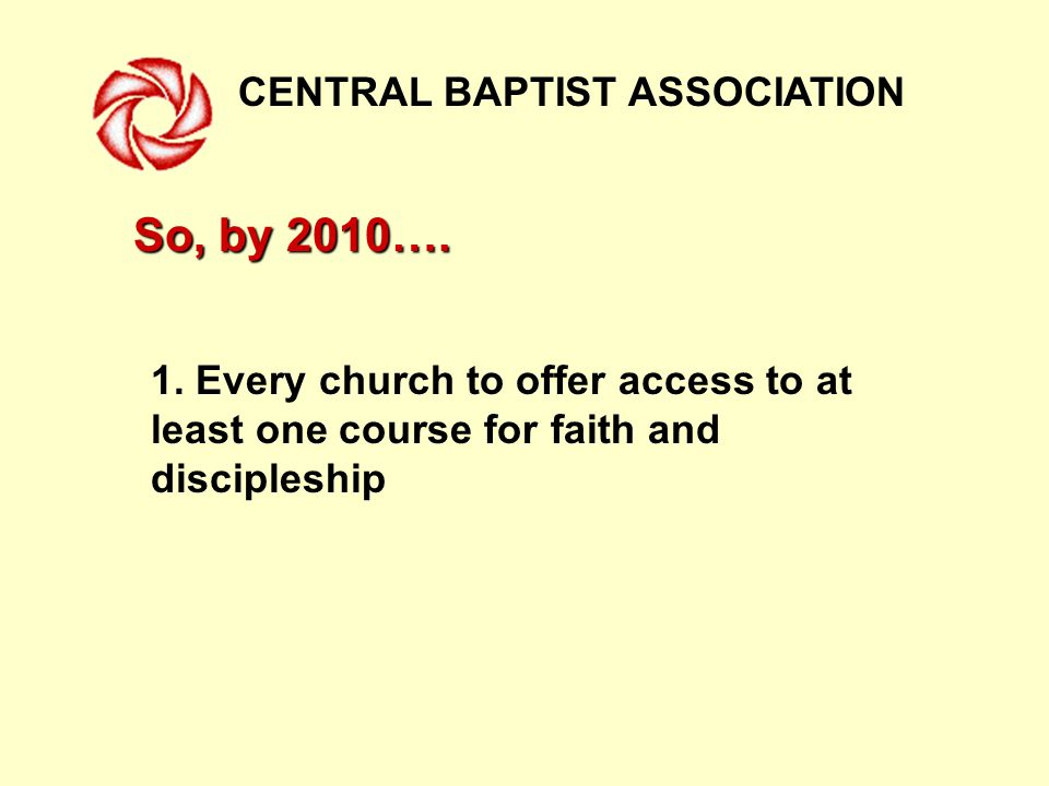 CENTRAL BAPTIST ASSOCIATION 2.