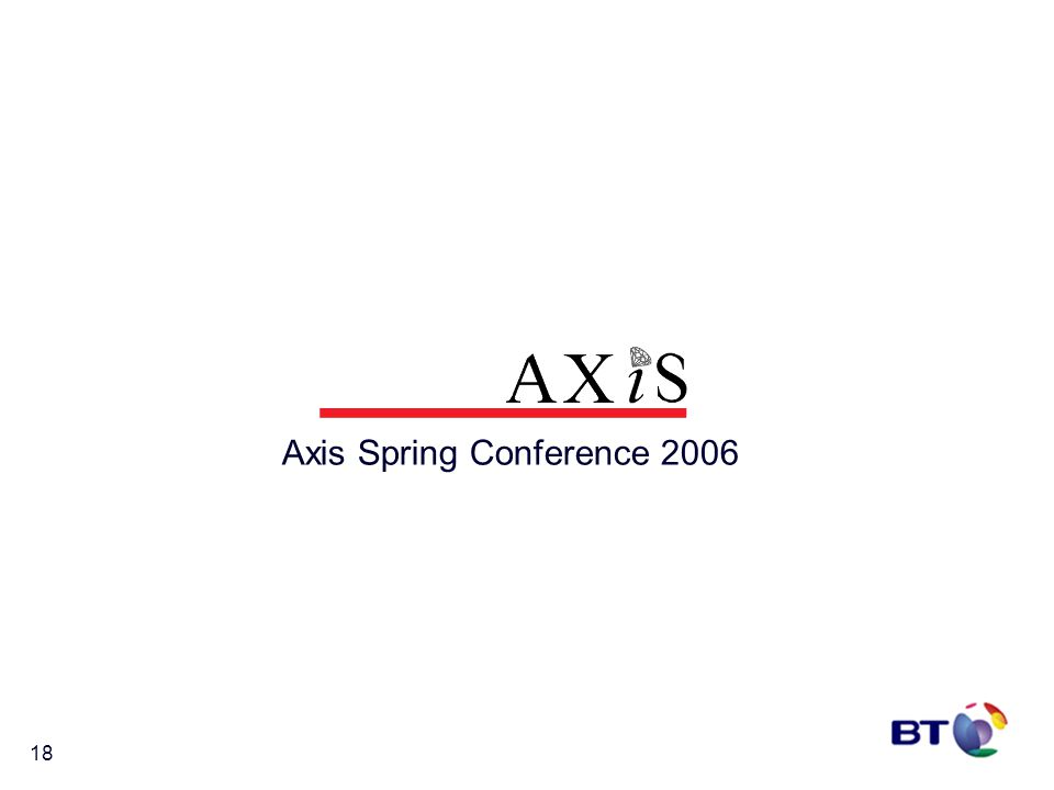 18 Axis Spring Conference 2006