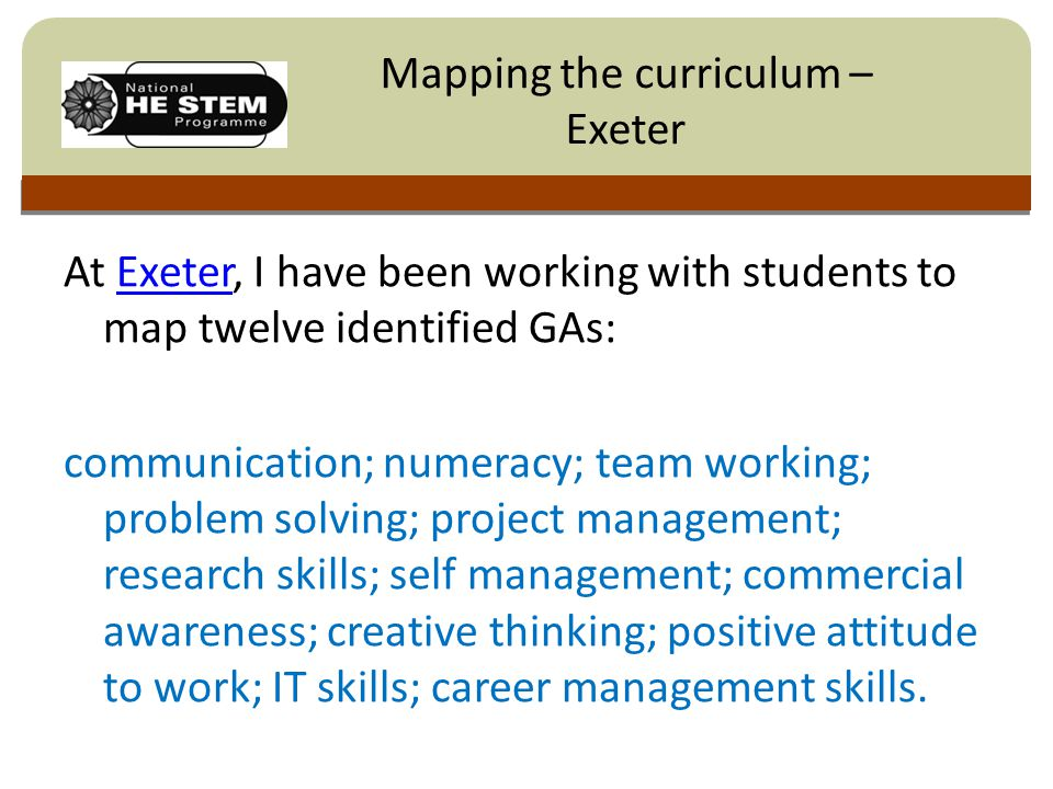 Click to edit Master title style Students determined the extent to which each attribute was taught, practised, assessed and made recommendations regarding the curriculum.