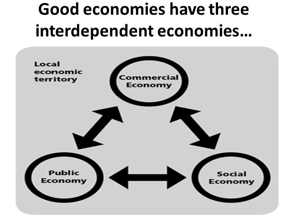 Good economies have three interdependent economies…