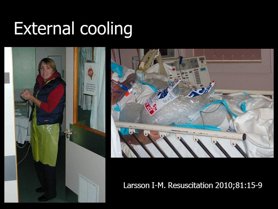 External cooling Larsson I-M. Resuscitation 2010;81:15-9