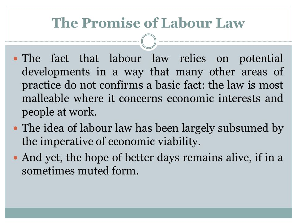 The unproductive view of English workers Complaints about economic duress (the perceived unfair influence of trade unions by way of industrial action) were part of the movement that brought about the decline in collective labour law and it is being used again today.