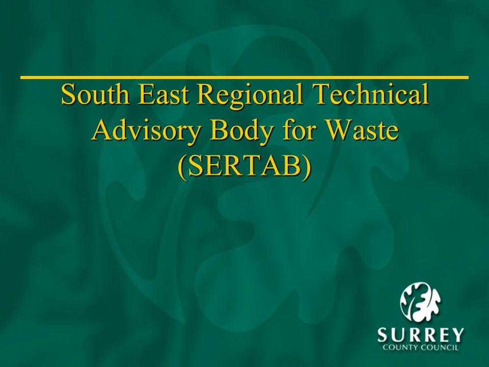 South East Regional Technical Advisory Body for Waste (SERTAB)