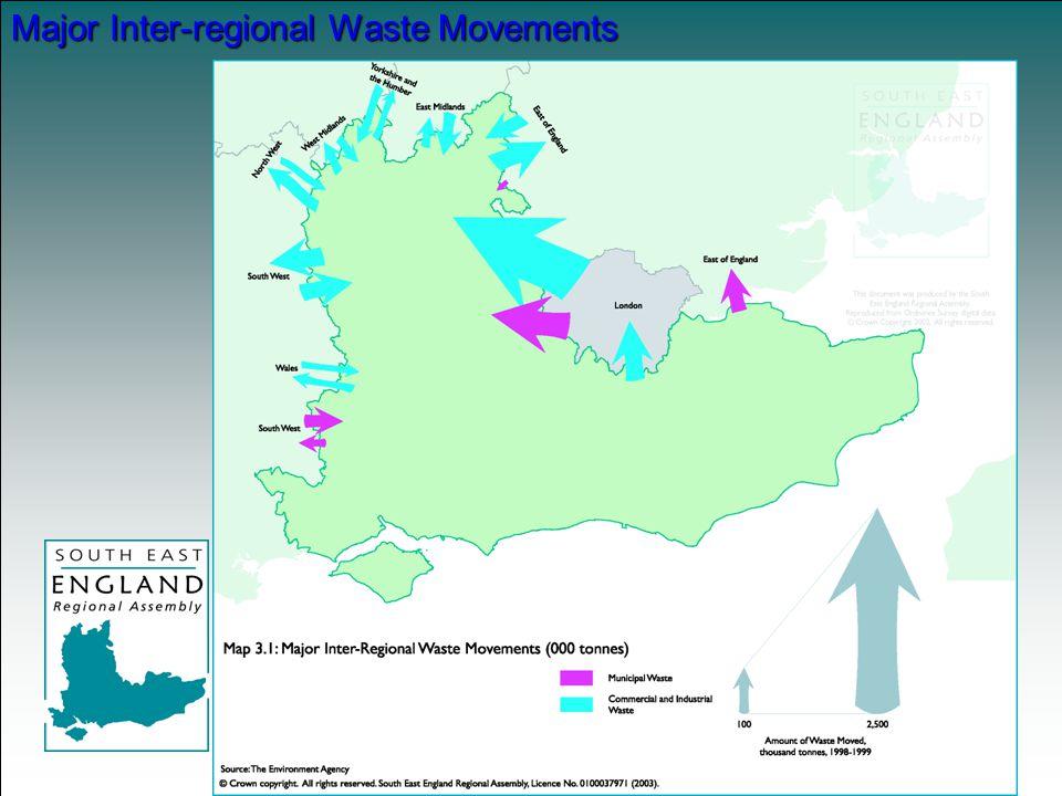 Major Inter-regional Waste Movements
