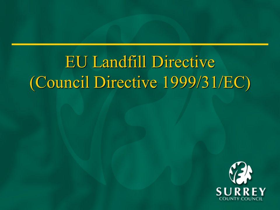 EU Landfill Directive (Council Directive 1999/31/EC)