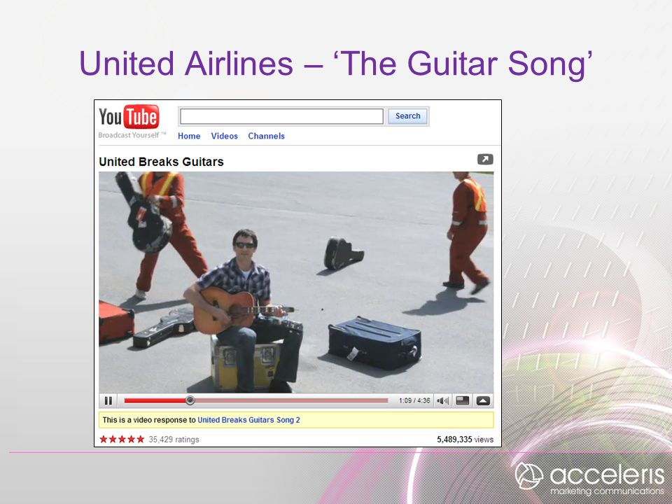 United Airlines – 'The Guitar Song'