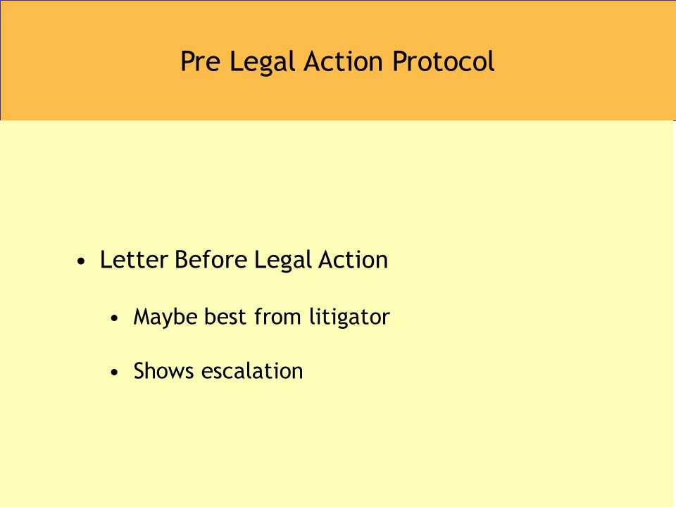 Pre Legal Action Protocol Letter Before Legal Action Maybe best from litigator Shows escalation