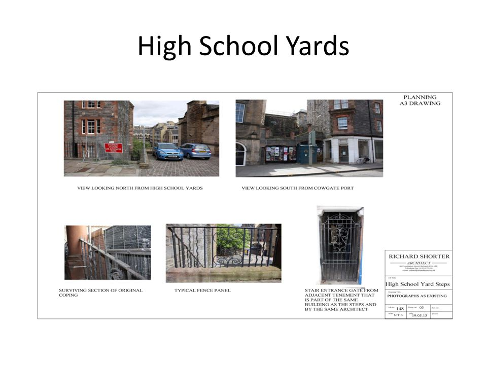 High School Yards have been blocked up for a number of years due to anti social behaviour.