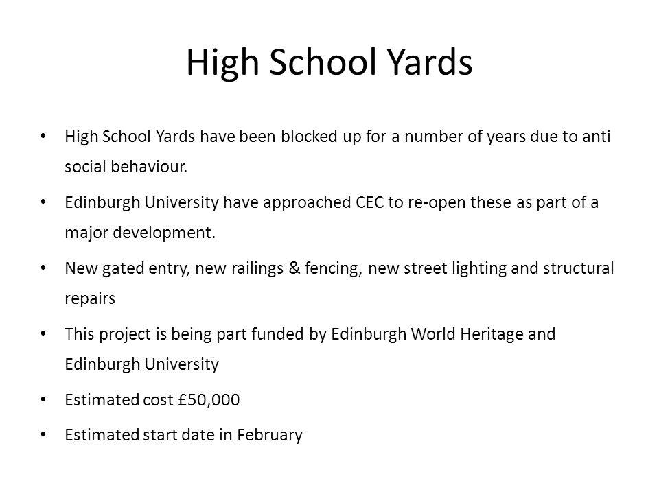 High School Yards