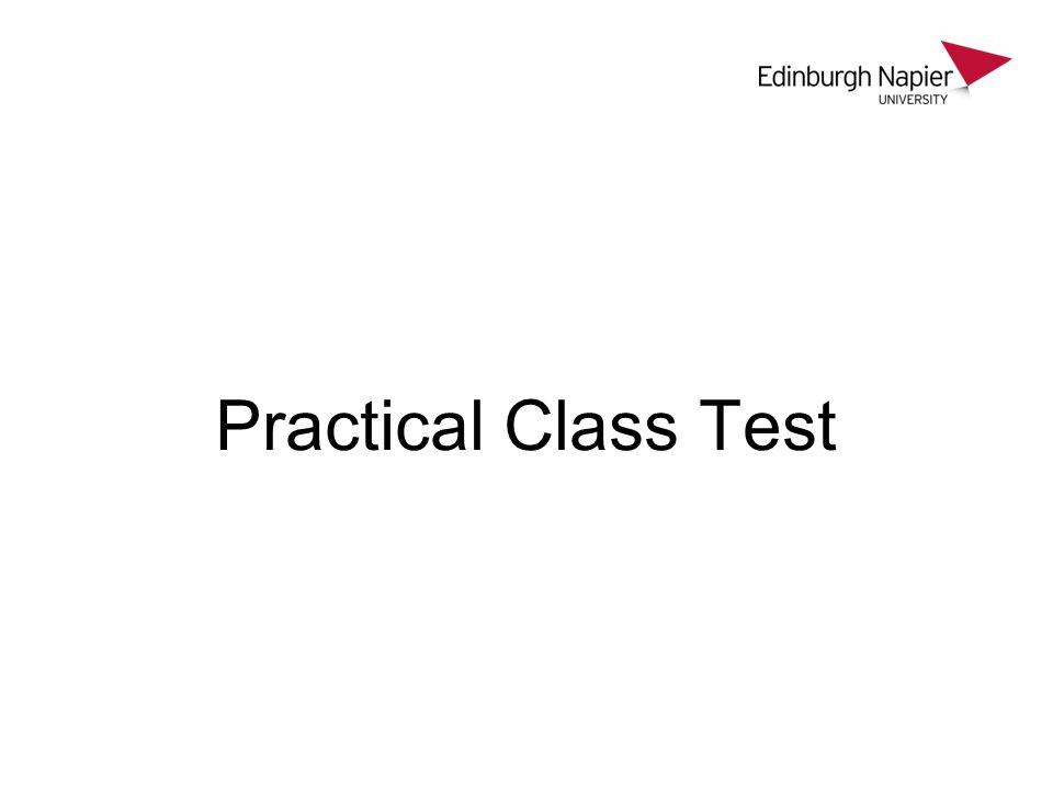Practical Class Test