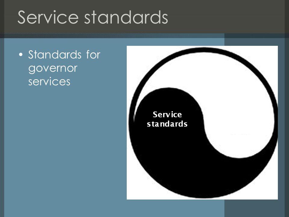 Professional standards Standards for governor service professionals
