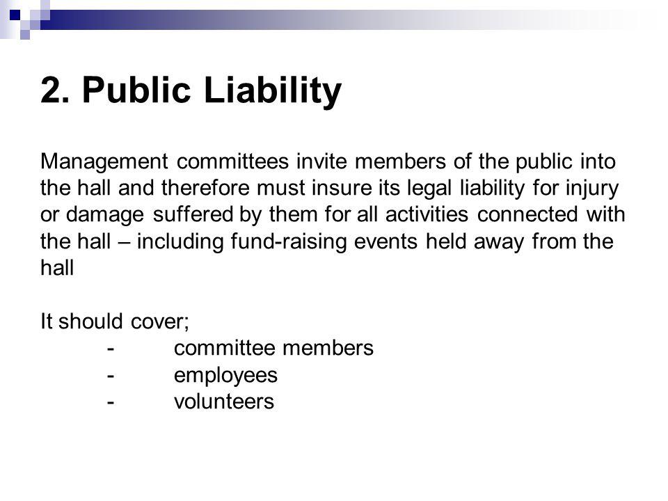  2. Public Liability 2.