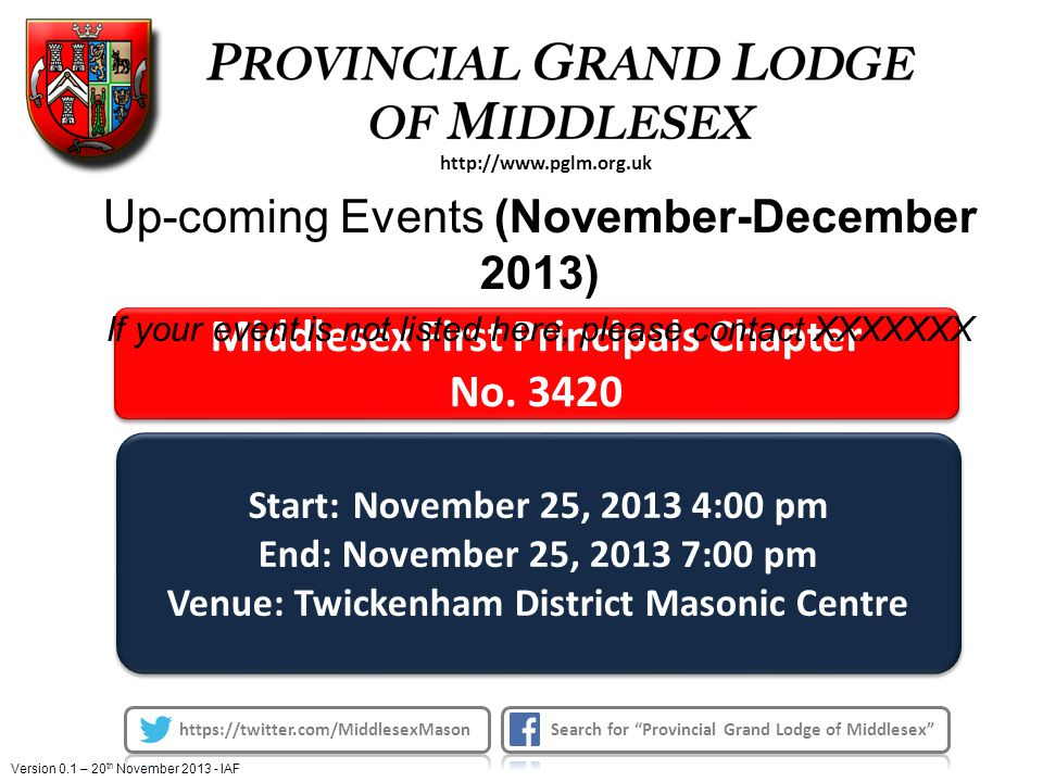 Middlesex First Principals Chapter No. 3420 Middlesex First Principals Chapter No.