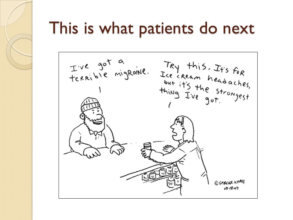 This is what patients do next