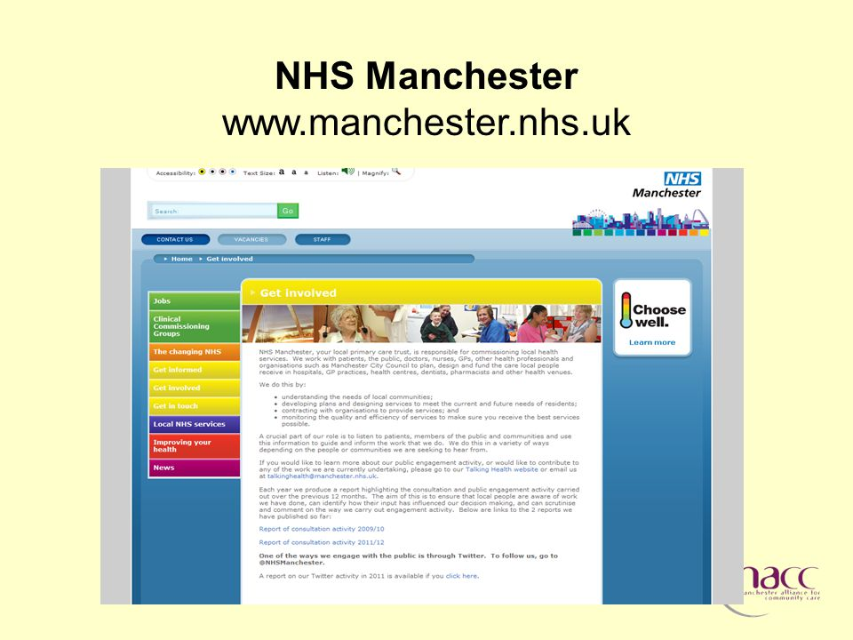 NHS Manchester www.manchester.nhs.uk