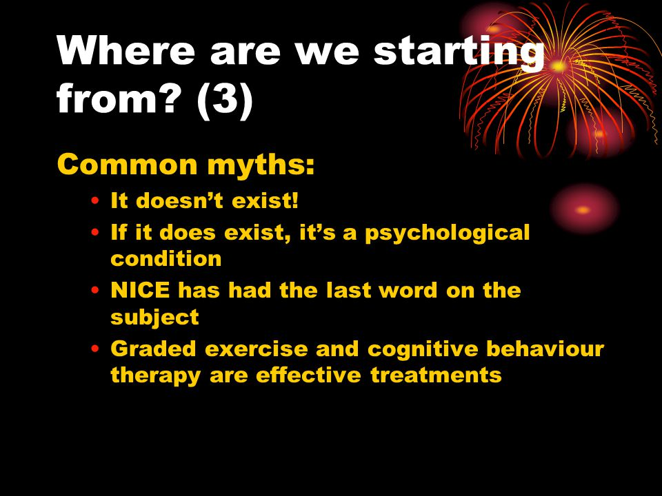 Where are we starting from. (3) Common myths: It doesn't exist.
