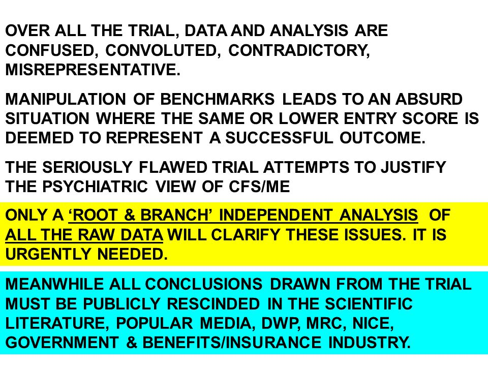OVER ALL THE TRIAL, DATA AND ANALYSIS ARE CONFUSED, CONVOLUTED, CONTRADICTORY, MISREPRESENTATIVE. MANIPULATION OF BENCHMARKS LEADS TO AN ABSURD SITUAT