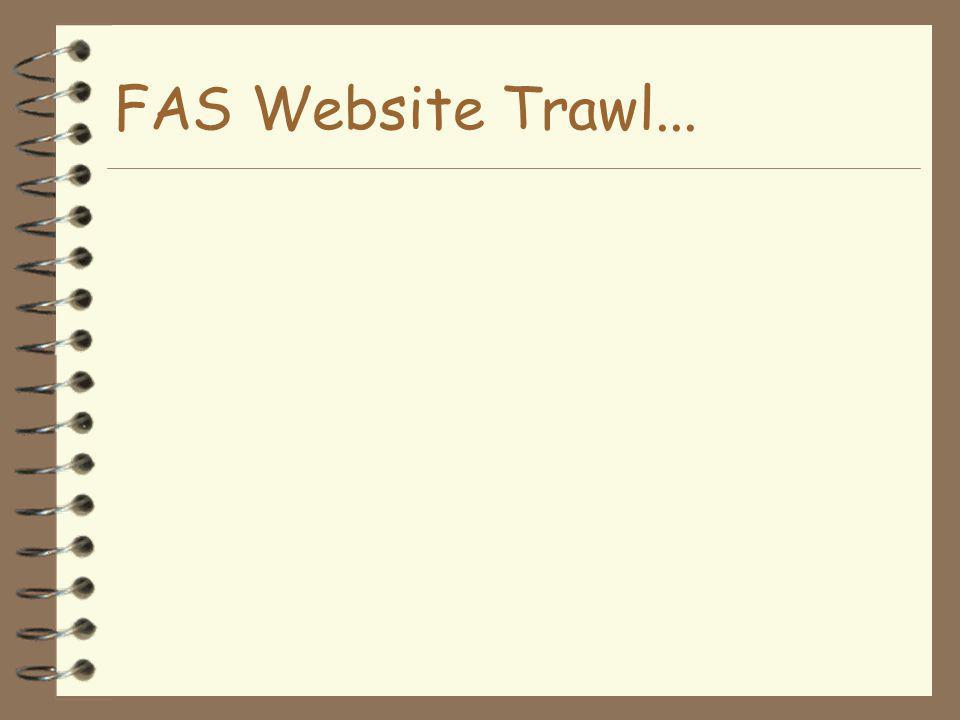 FAS Website Trawl...