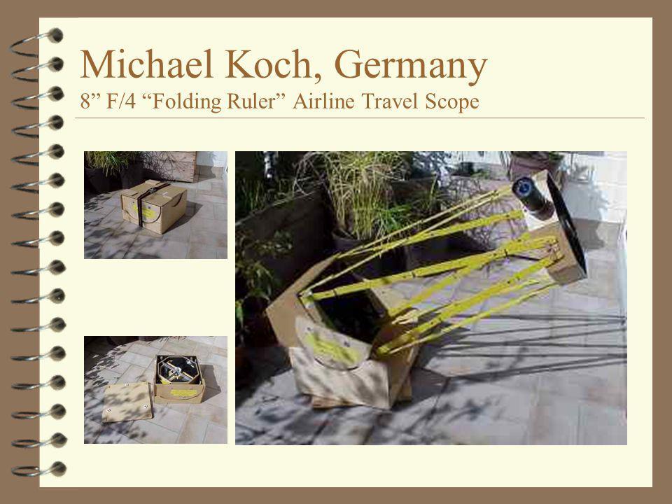 "Michael Koch, Germany 8"" F/4 ""Folding Ruler"" Airline Travel Scope"