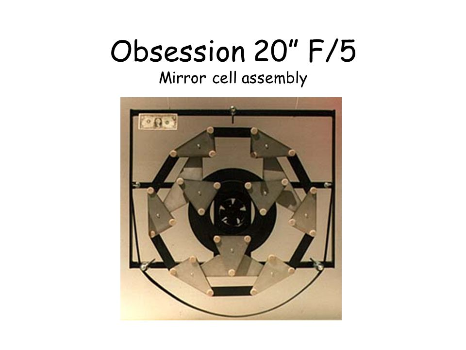 Obsession 20 F/5 Mirror cell assembly