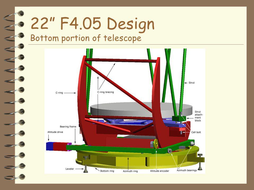 22 F4.05 Design Bottom portion of telescope