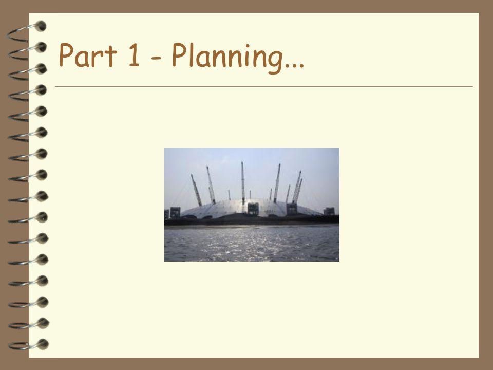 Part 1 - Planning...