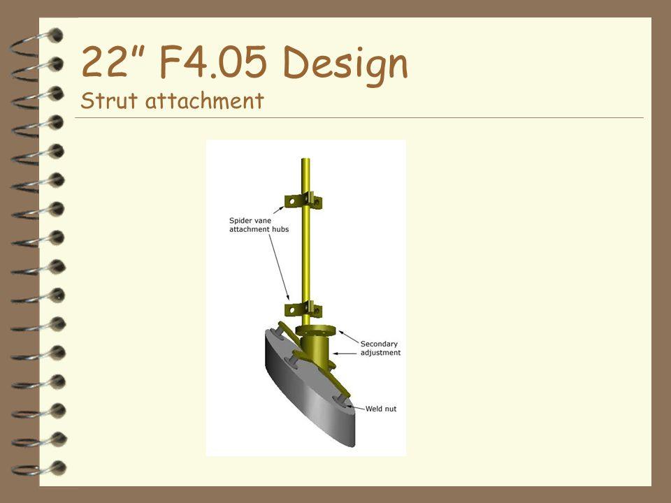 22 F4.05 Design Strut attachment