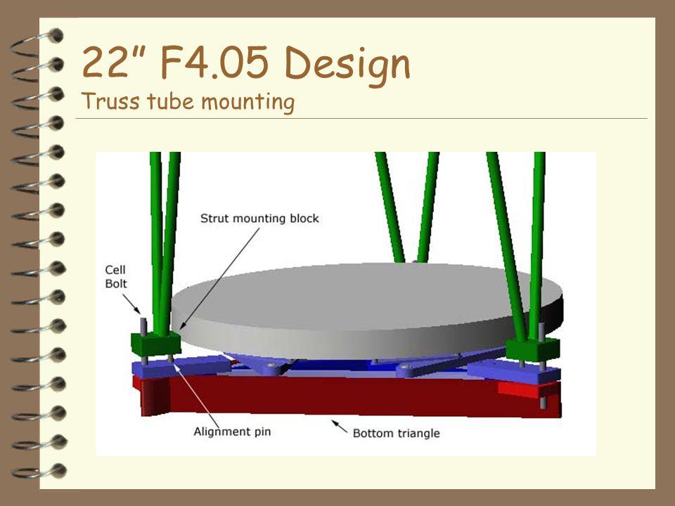 22 F4.05 Design Truss tube mounting