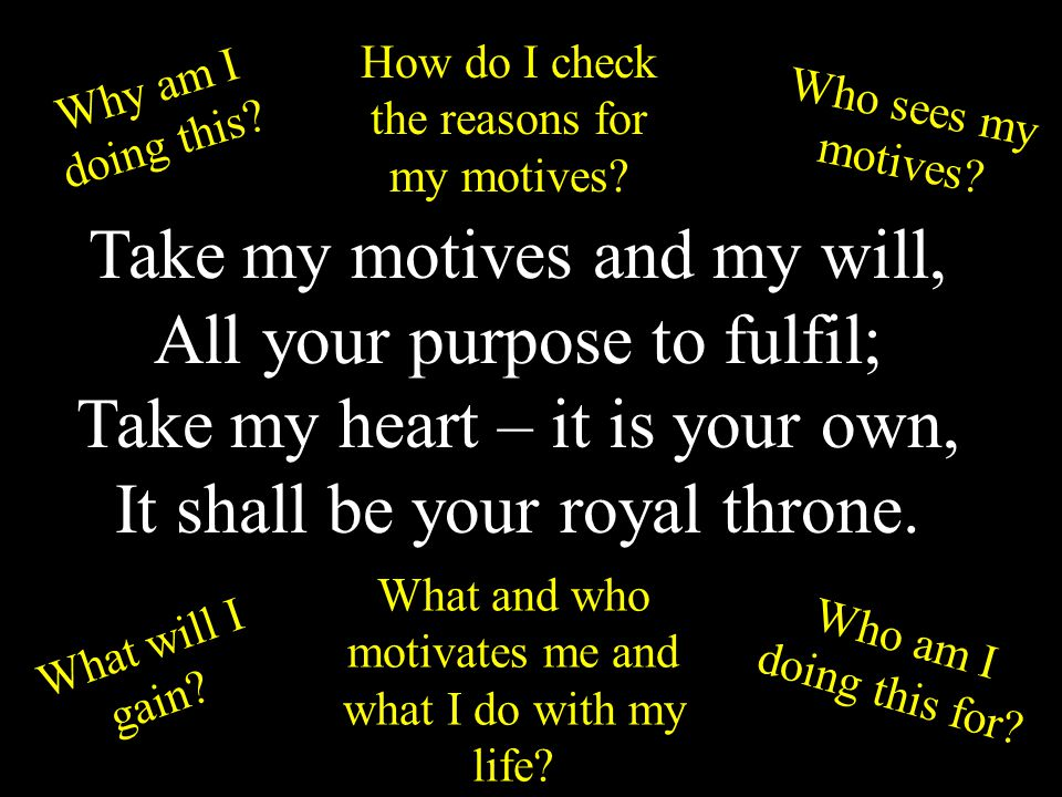 WHAT MOTIVATES OUR FAITH Luke 3 v 7 John said to the crowds coming out to be baptised by him you brood of vipers.