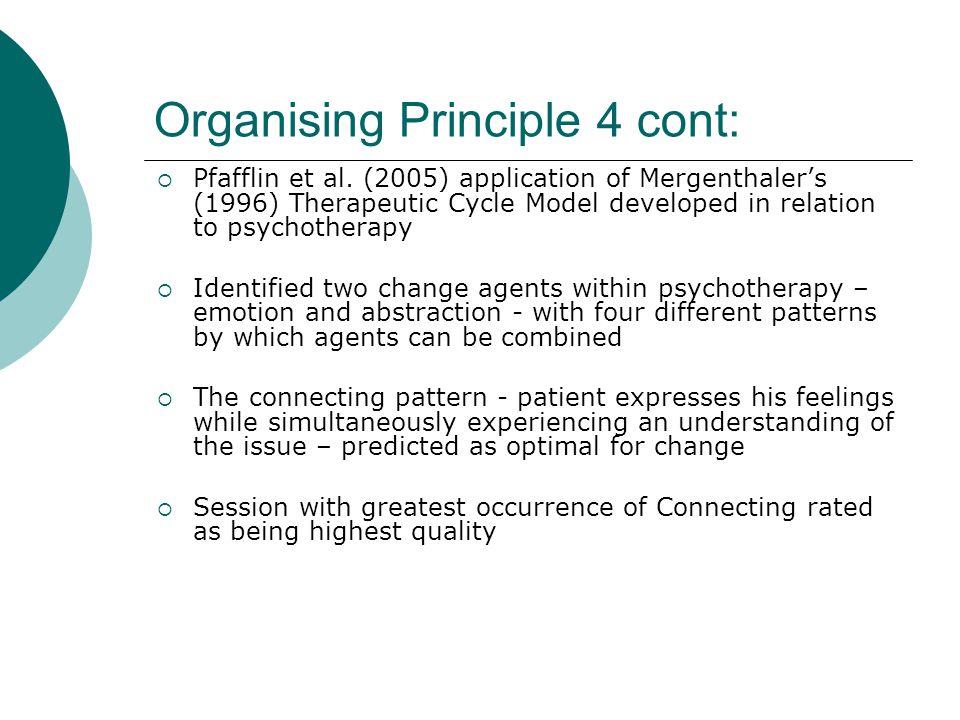 Organising Principle 4 cont:  Pfafflin et al.
