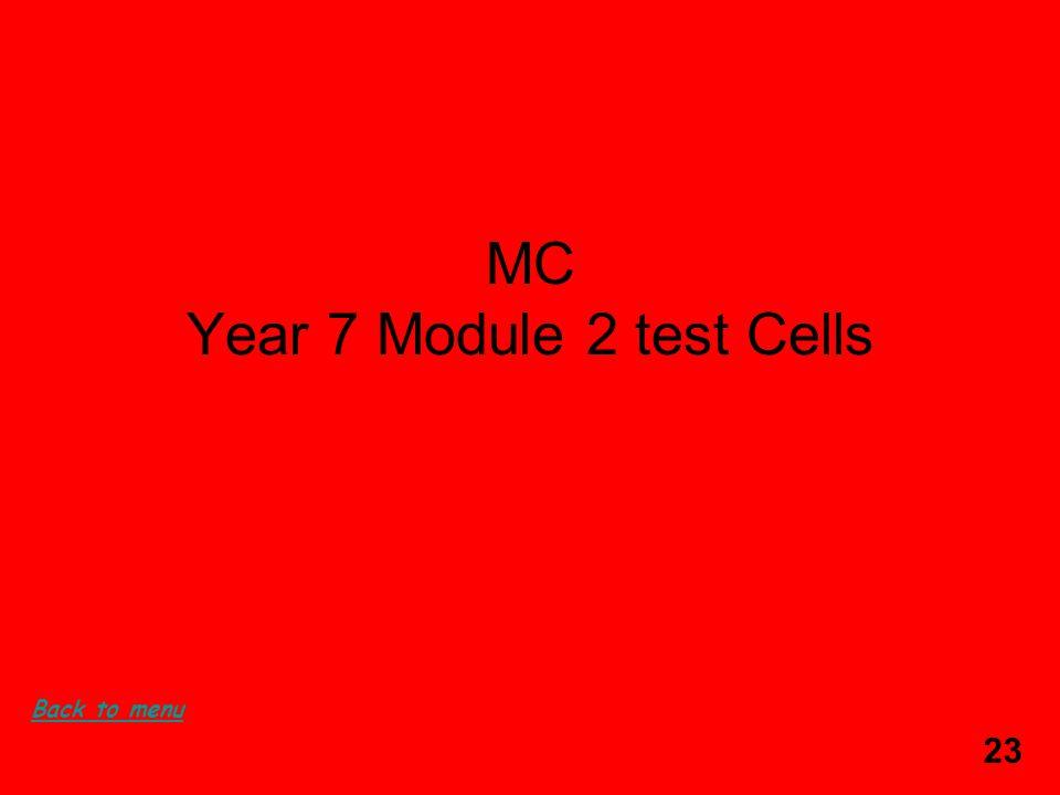 23 MC Year 7 Module 2 test Cells Back to menu