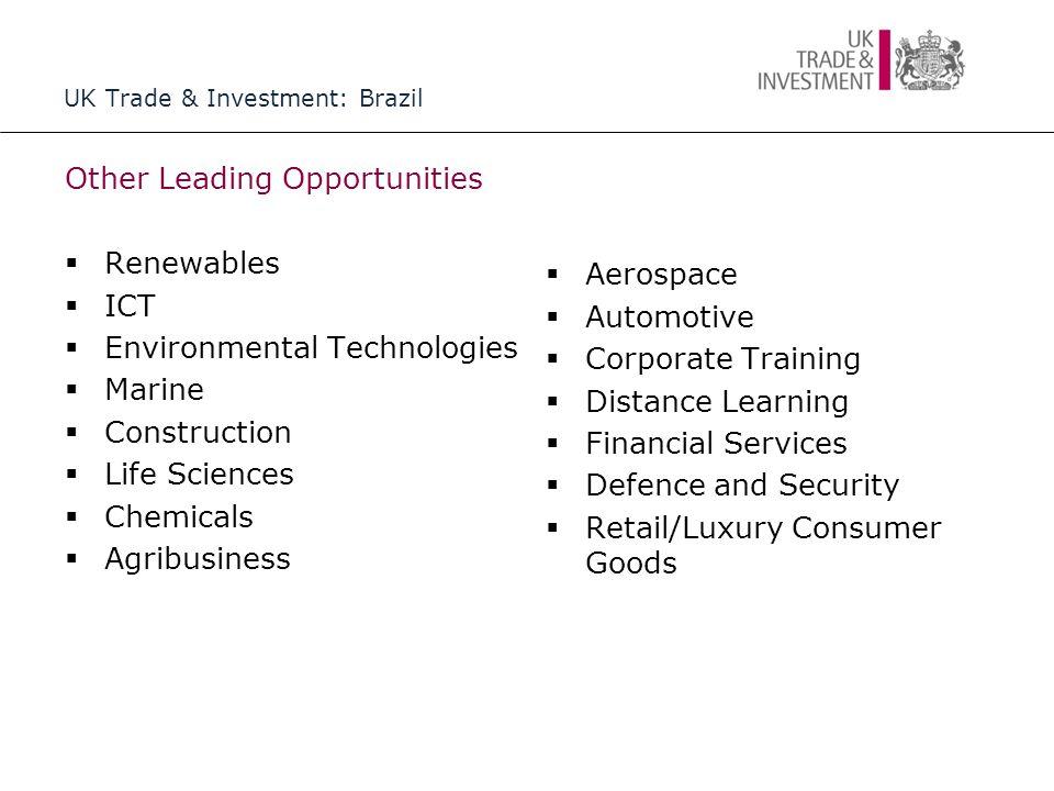 UK Trade & Investment: Brazil Not all good news….