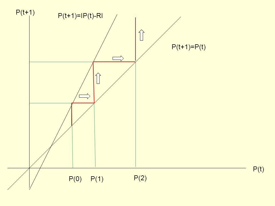 P(t) P(t+1) P(t+1)=IP(t)-RI P(t+1)=P(t) P(0)P(1) P(2)