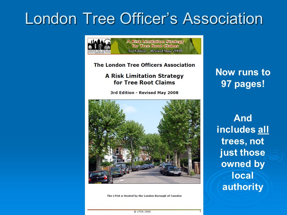 London Tree Officer's Association Now runs to 97 pages.