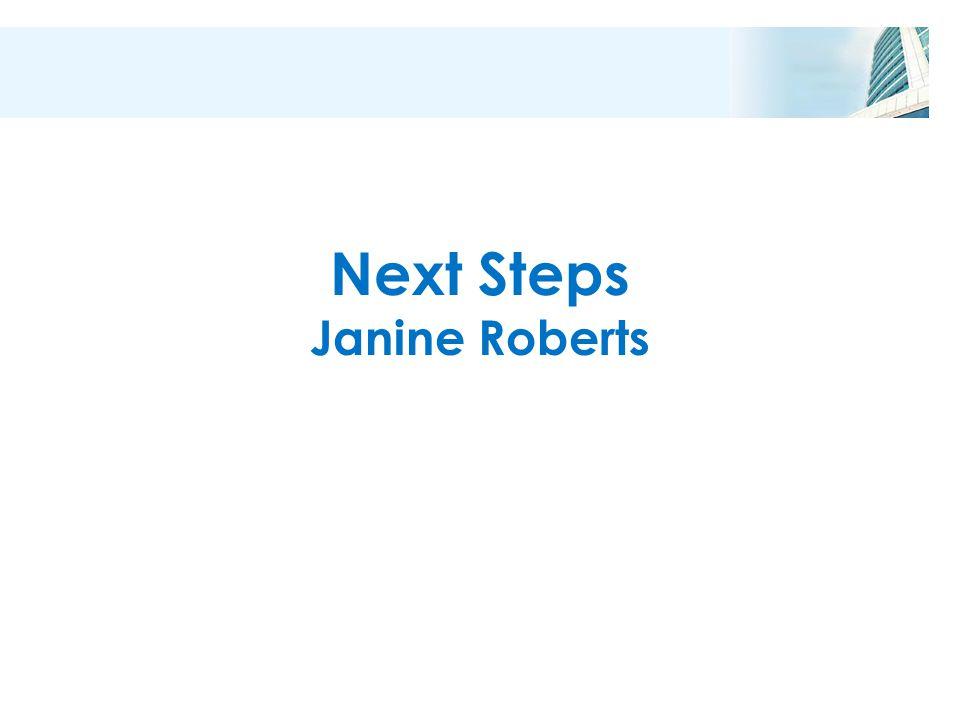 Next Steps Janine Roberts
